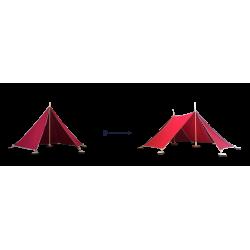 Abel Uitbreiding Tent 1 naar Tent 2 rood