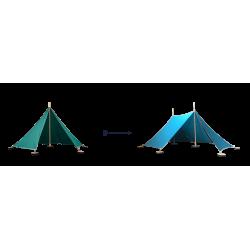 Abel uitbreiding van Tent 1 naar Tent 2