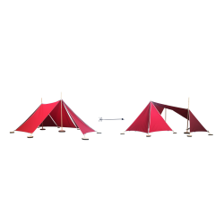 Abel Uitbreiding Tent 2 naar Tent 3 rood