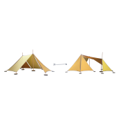 Abel uitbreiding van Tent 2 naar Tent 3
