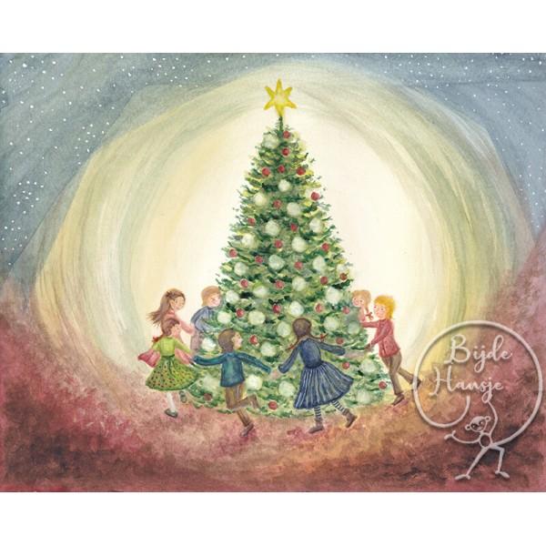 Bijdehansje poster Christmas tree