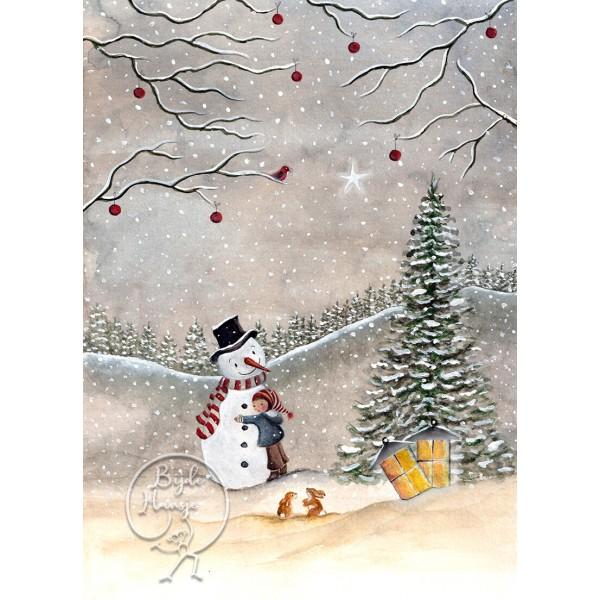 Bijdehansje poster Snowman
