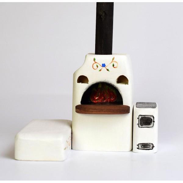 Bumbu Toys Grote oven met fornuis en bank - SET