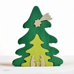 Bumbu Toys Kerstboom puzzel