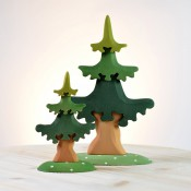 Bumbu Toys Houten Bomen, Struiken & Boshuisjes