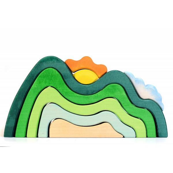 Bumbu Toys Bergen met wolk en zon