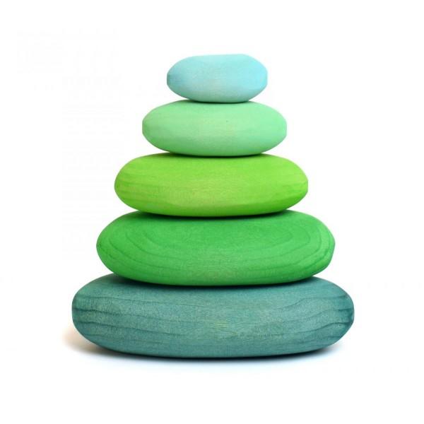 Bumbu Toys Kiezelstenen groen