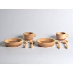 Keuken speelgoed: borden, bekers en bestek - SET