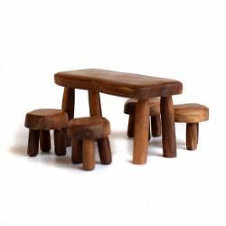 Tafel met 4 stoelen - SET