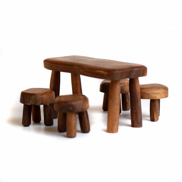Bumbu Toys Tafel met 4 stoelen - SET