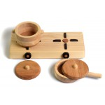 Bumbu Toys Keuken speelgoed: Kookplaat met pannen - SET