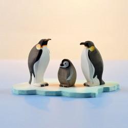 Pinguïn familie met ijsschots - SET