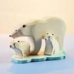 Bumbu Toys Ijsberen familie met ijsschots - SET