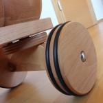 Dynamiko houten loopwagen rups groen/blauw