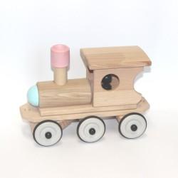 Houten Trein Locomotief Bont