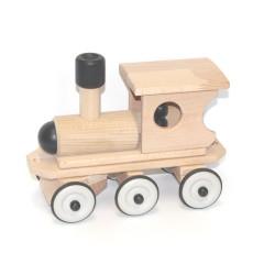 Houten Trein Locomotief Zwart