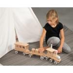 Dynamiko Houten Treinset: Locomotief met 3 aanhangers
