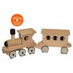 Dynamiko Houten Treinset: Locomotief met personenwagon