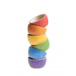 6 Schalen  (6 kleuren)