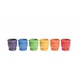 6 Bakjes (6 kleuren)
