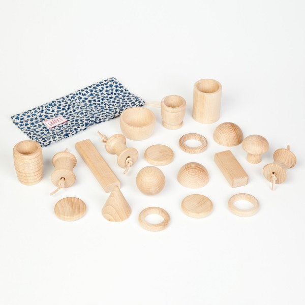 Grapat Naturel houten schatten, 20-delig