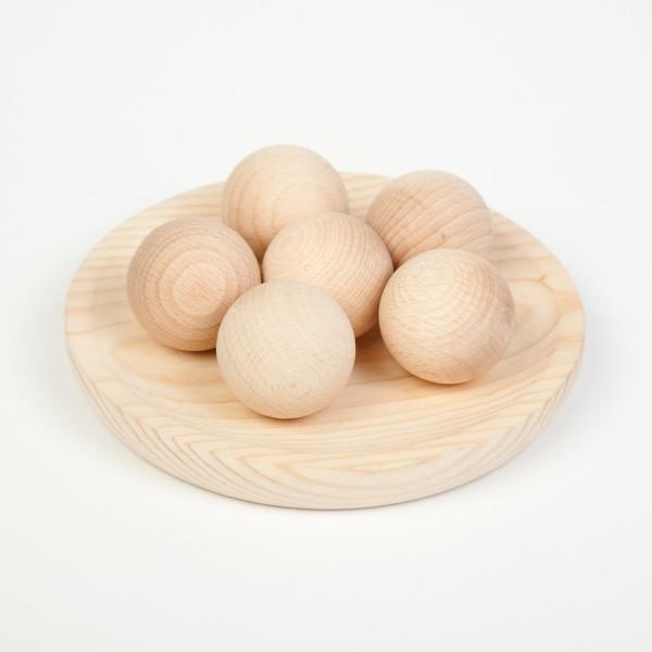 Grapat 6 Grote houten ballen naturel