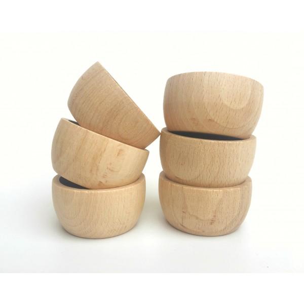 Grapat 6 Grote houten bakjes naturel