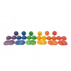 Ronde vormen regenboog