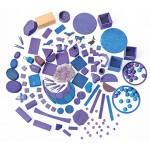 Kiezelstenen paarse tinten