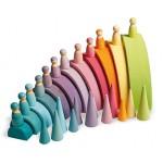 12 pastel gekleurde vrienden