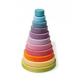 Stapel toren groot, pastel kleur
