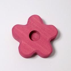 Kaarsenhouder bloem roze