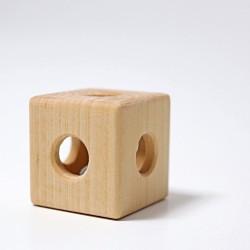 Rammelaar kubus met belletje