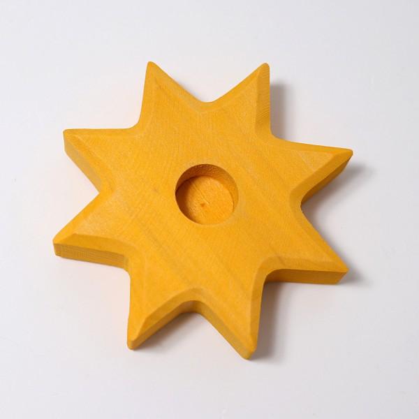 Grimm's Kaarsenhouder ster geel