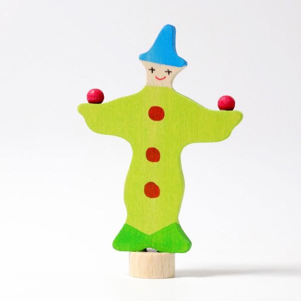 Grimm's Steker jongleur clown groen