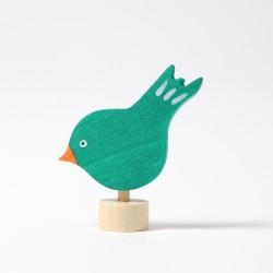 Steker vogel groen