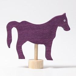 Steker paard paars