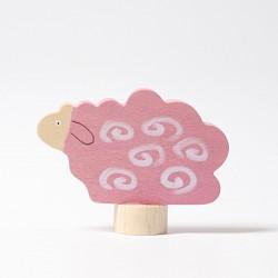 Steker schaap roze