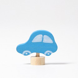 Steker auto blauw