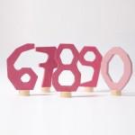 Grimm's Steker cijfers 6 - 0 roze
