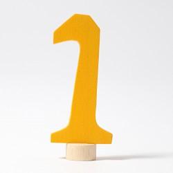 Steker getal cijfer 1