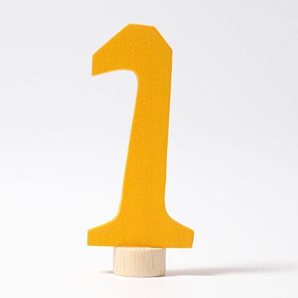 Grimm's Steker getal cijfer 1