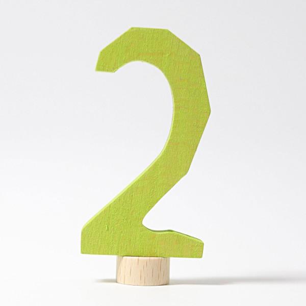Grimm's Steker getal cijfer 2