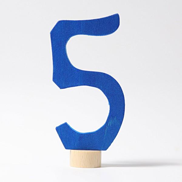 Grimm's Steker getal cijfer 5