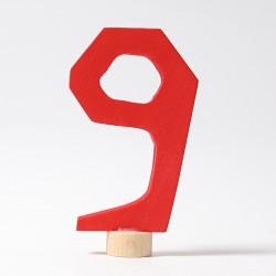 Steker getal cijfer 9