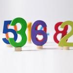 Grimm's Steker getal cijfer 6 strak
