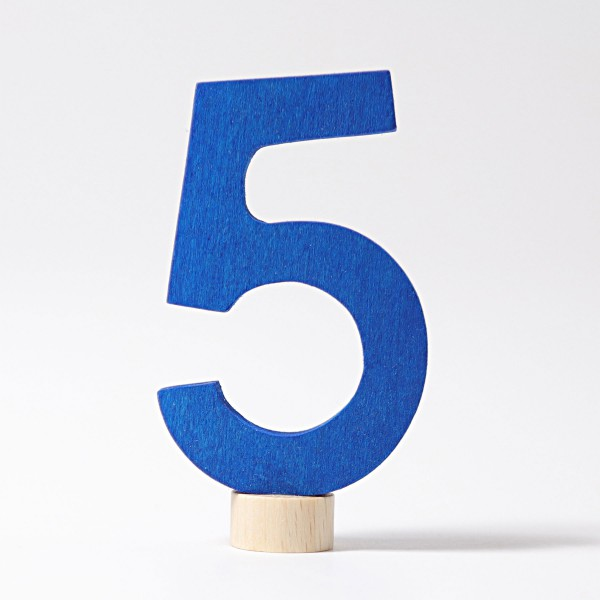 Grimm's Steker getal cijfer 5 strak