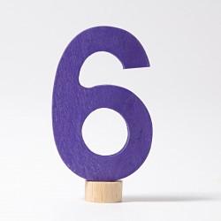 Steker getal cijfer 6 strak