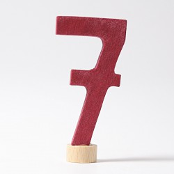 Steker getal cijfer 7 strak
