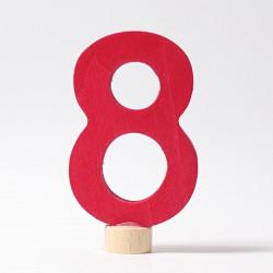 Steker getal cijfer 8 strak